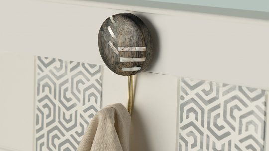 Intersections Black Wooden Wall Hook