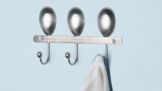 Silver Metal Wall Hooks