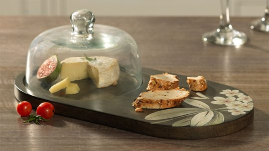 cloche with platter
