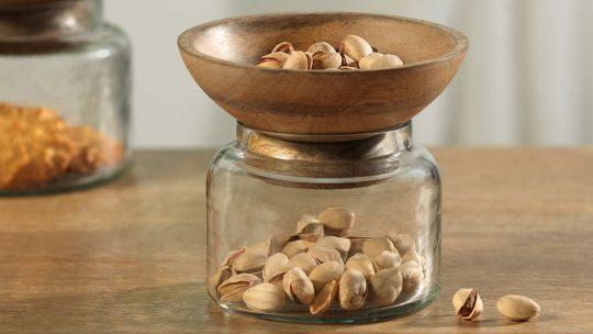 glass jar with bowl