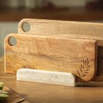 chopping board with marble stand