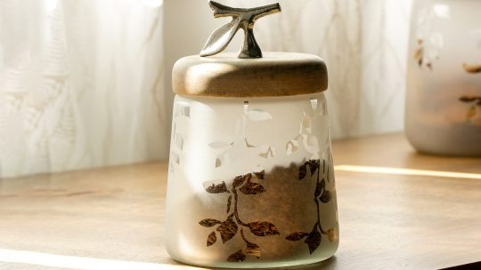 frosted jar